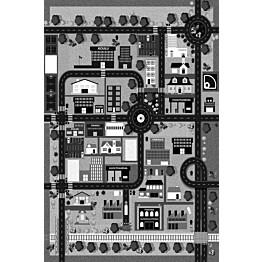 Matto Village's Kaupunki 100x150 cm harmaa