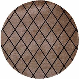 Matto VM Carpet Salmiakki mittatilaus pyöreä beige-musta