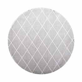 Matto VM Carpet Salmiakki mittatilaus pyöreä harmaa-valkoinen