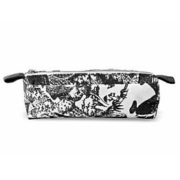 Meikkilaukku Finlayson Seikkailumuumi S 20x6 cm musta/valkoinen