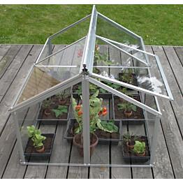 Minikasvihuone Vitavia Gaia Jumbo 120x80 cm 0,96 m² lasilla