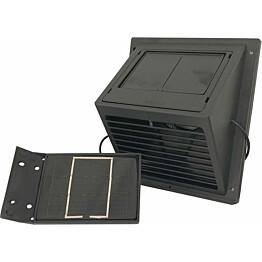 MiniVent-tuuletin Sunwind erillisellä aurinkopaneelilla musta