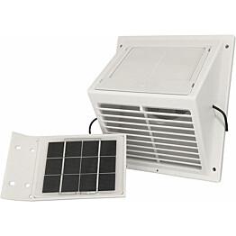 MiniVent-tuuletin Sunwind erillisellä aurinkopaneelilla valkoinen