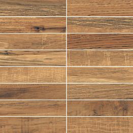 Mosaiikkilaatta LPC Amazonia Pähkinä 3,4x14,7 cm matta