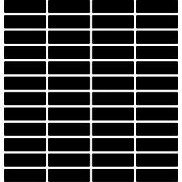 Mosaiikkilaatta LPC Art Stick 7003 2,19x7,28 cm verkolla harmaa