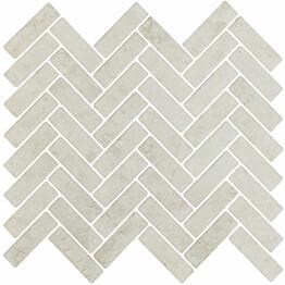 Mosaiikkilaatta LPC Herringbone Beige 2,2x7,3 cm matta lasikuituverkolla