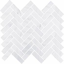 Mosaiikkilaatta LPC Herringbone Vaaleanharmaa 2,2x7,3 cm matta lasikuituverkolla