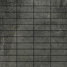 Mosaiikkilaatta LPC Living Yönmusta 2,7x7,5 cm verkolla