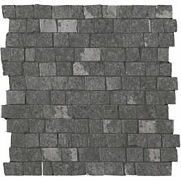 Mosaiikkilaatta LPC Slate St Cobble Antrasiitti myllytetty matta leikattu lasikuituverkolla harmaa
