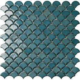 Mosaiikkilaatta LPC Soul Green 6003S 3,6x2,9 cm kohokuvioinen kiiltävä lasikuituverkolla vihreä