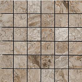 Mosaiikkilaatta LPC Temple Taupe 5x5 cm matta