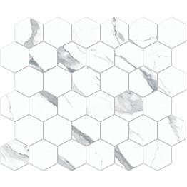 Mosaiikkilaatta Pukkila Bernini Stone Statuario himmeä sileä 300x330 mm