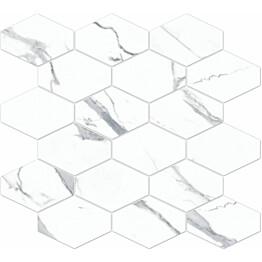 Mosaiikkilaatta Pukkila Bernini Stone Statuario himmeä sileä 330x370 mm