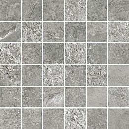 Mosaiikkilaatta Pukkila Blackboard Ash himmeä sileä 300x300 mm