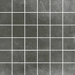 Mosaiikkilaatta Pukkila Europe Black himmeä sileä 50x50 mm