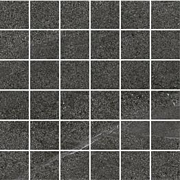 Mosaiikkilaatta Pukkila Landstone Anthracite himmeä sileä 48x48 mm