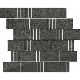 Mosaiikkilaatta Pukkila Landstone Anthracite Pave himmeä sileä 298x298 mm