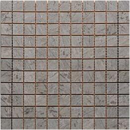Mosaiikkilaatta Pukkila Luxury Bardiglio Tummanharmaa kiiltävä sileä 30x30 mm