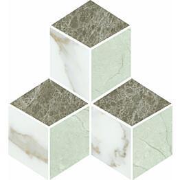 Mosaiikkilaatta Pukkila Luxury Brown 3D kiiltävä sileä 255x290 mm