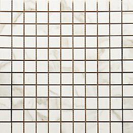 Mosaiikkilaatta Pukkila Luxury Calacatta Oro kiiltävä sileä 30x30 mm