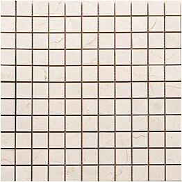 Mosaiikkilaatta Pukkila Luxury Marfil Beige kiiltävä sileä 30x30 mm