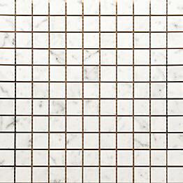 Mosaiikkilaatta Pukkila Luxury Statuario Valkoinen kiiltävä sileä 30x30 mm