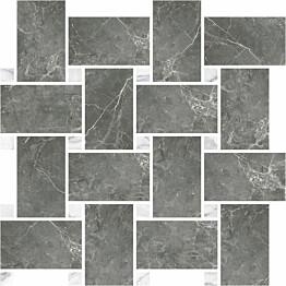 Mosaiikkilaatta Pukkila Marble Boutique Fior Di Bosco Chesterfield kiiltävä sileä 317x305 mm