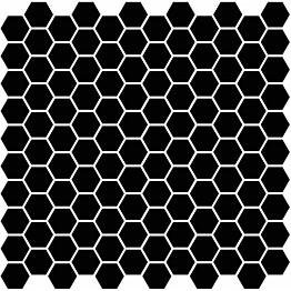 Mosaiikkilaatta Pukkila Miniworx Black Hexagon himmeä sileä 25x25 mm