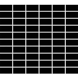 Mosaiikkilaatta Pukkila Miniworx Black himmeä sileä 50x25 mm