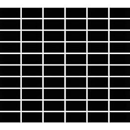 Mosaiikkilaatta Pukkila Miniworx Black kiiltävä sileä 50x25 mm