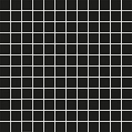 Mosaiikkilaatta Pukkila Mosaico Porcelanico Black himmeä sileä 25x25 mm