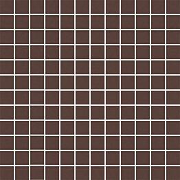 Mosaiikkilaatta Pukkila Mosaico Porcelanico Brown himmeä sileä 25x25 mm