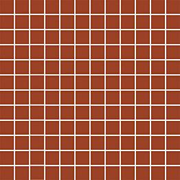 Mosaiikkilaatta Pukkila Mosaico Porcelanico Red himmeä sileä 25x25 mm