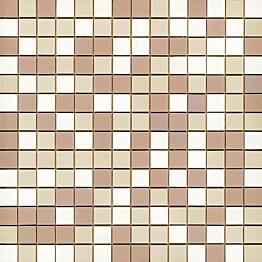 Mosaiikkilaatta Pukkila Mosaico Porcelanico Värimix 100-201-309 himmeä sileä 25x25 mm
