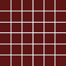 Mosaiikkilaatta Pukkila Pro Technic Color Burgundy kiiltävä sileä 47x47 mm