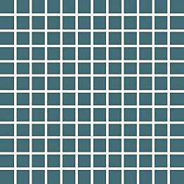 Mosaiikkilaatta Pukkila Pro Technic Color Dark Turquoise himmeä sileä 23x23 mm
