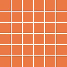 Mosaiikkilaatta Pukkila Pro Technic Color Orange kiiltävä sileä 47x47 mm
