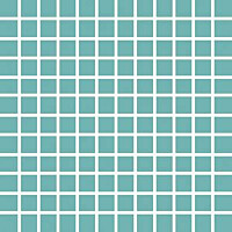 Mosaiikkilaatta Pukkila Pro Technic Color Turquoise kiiltävä sileä 23x23 mm