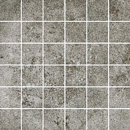 Mosaiikkilaatta Pukkila Reden Dark Grey himmeä sileä 47x47 mm