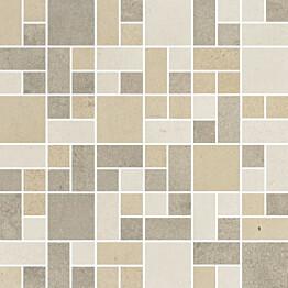 Mosaiikkilaatta Pukkila Reload Mosaico 2D Freddo himmeä sileä 300x300 mm