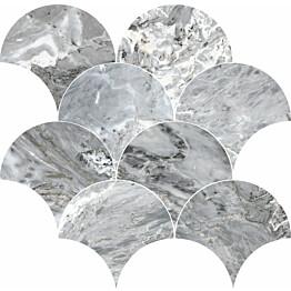 Mosaiikkilaatta Pukkila Rock Symphony Blues Siniharmaa kiiltävä sileä 290x280 mm