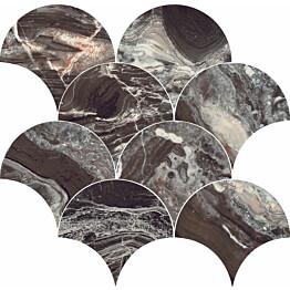Mosaiikkilaatta Pukkila Rock Symphony Power Ruskea kiiltävä sileä 290x280 mm