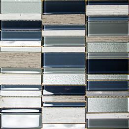 Mosaiikkilaatta Pukkila Stick Blue himmeä sileä 307x300 mm