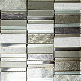 Mosaiikkilaatta Pukkila Stick Grey himmeä sileä 307x300 mm