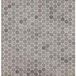 Mosaiikkilaatta Qualitystone Hexagon Mini Light Grey 30x30 mm