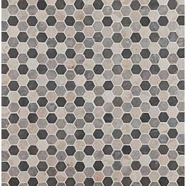 Mosaiikkilaatta Qualitystone Hexagon Mini Mix 30x30 mm