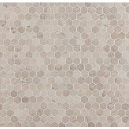 Mosaiikkilaatta Qualitystone Hexagon Mini White 30x30 mm