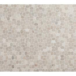 Mosaiikkilaatta Qualitystone Pentagon Mini White 30x50 mm