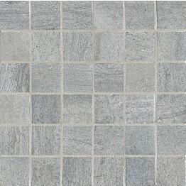 Mosaiikkilaatta Crossover Mosaico Argento 30x30/5x5 harmaa