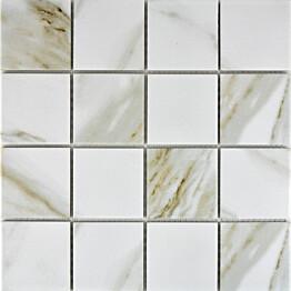 Mosaiikkilaatta Pukkila Calacatta himmea karhea 73x73mm